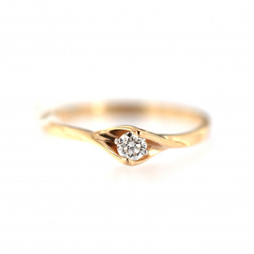 Rose gold ring with diamond DRBR12