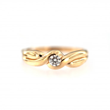 Rose gold ring with diamond DRBR13