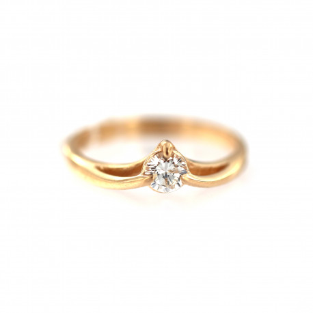 Rose gold ring with diamond DRBR14