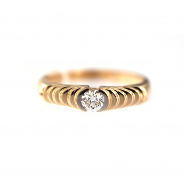 Rose gold ring with diamond DRBR15