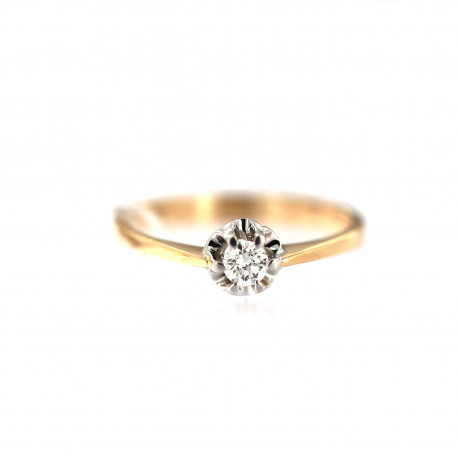 Rose gold ring with diamond DRBR17