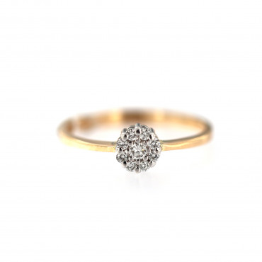 Rose gold ring with diamonds DRBR19