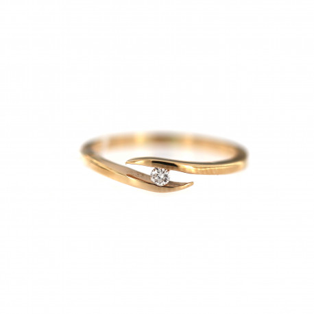 Rose gold ring with diamond DRBR20