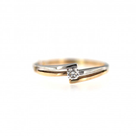 Rose gold ring with diamond DRBR21