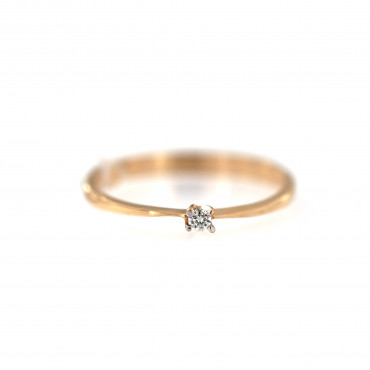 Rose gold ring with diamond DRBR22