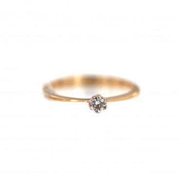 Rose gold ring with diamond DRBR23