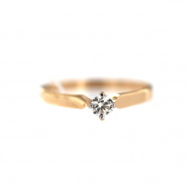 Rose gold ring with diamond DRBR26