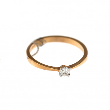 Rose gold ring with diamond DRBR27