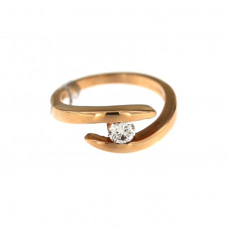 Rose gold ring with diamond DRBR28