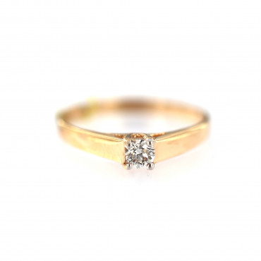 Rose gold ring with diamond DRBR29