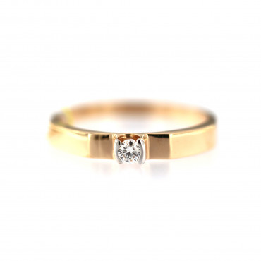 Rose gold ring with diamond DRBR30