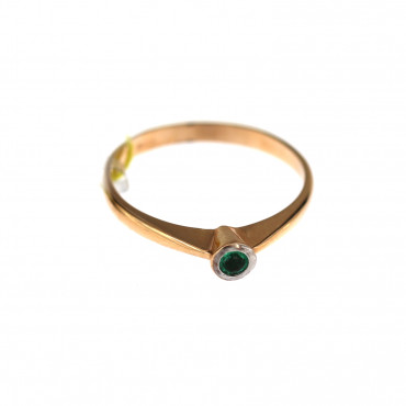 Rose gold ring with emerald DRBR32