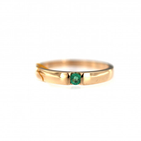 Rose gold ring with emerald DRBR35