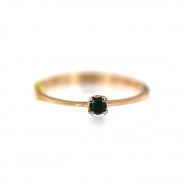 Rose gold ring with emerald DRBR36