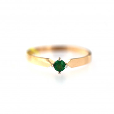 Rose gold ring with emerald DRBR37