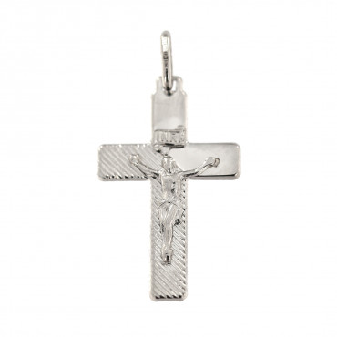 White gold cross pendant ABK01-04