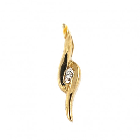 Yellow gold pendant with diamond AGBR04-02