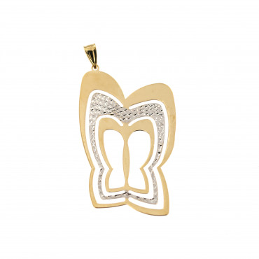 Yellow gold butterfly pendant AGD03-02