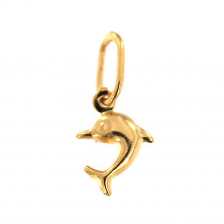 Yellow gold dolphin pendant AGG09-02