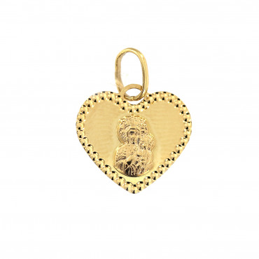 Yellow gold pendant AGMR01-02