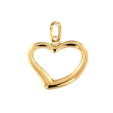 Yellow gold heart pendant AGS01-25