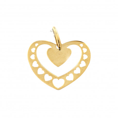 Yellow gold heart pendant AGS01-26