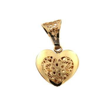 Yellow gold heart pendant AGS01-27