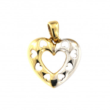 Yellow gold heart pendant AGS01-28