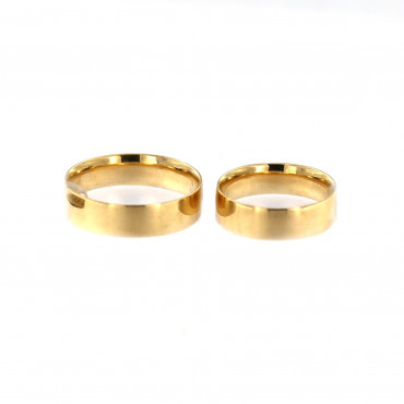 Yellow gold wedding ring VEST18