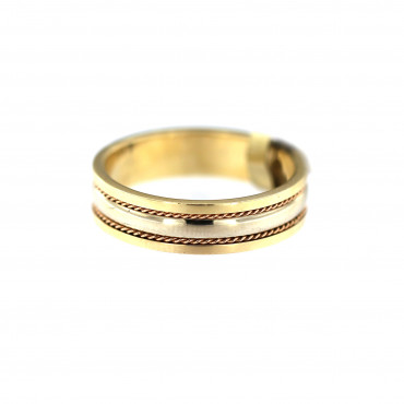 Yellow gold wedding ring VEST37