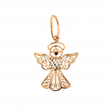 Rose gold angel pendant ARA01-06
