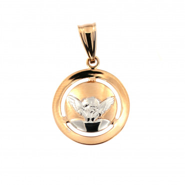Rose gold angel pendant ARA02-06
