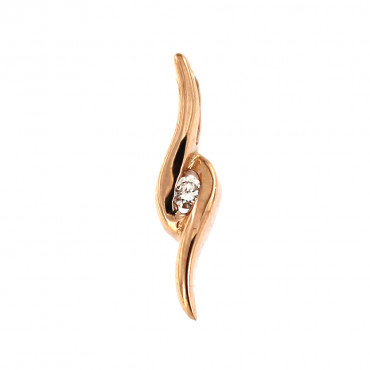 Rose gold pendant w/ diamond ARBR01-02