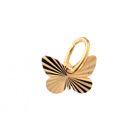 Rose gold butterfly charm ARD10