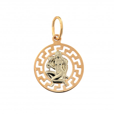 Rose gold zodiac sign Virgo pendant ARH-M-08