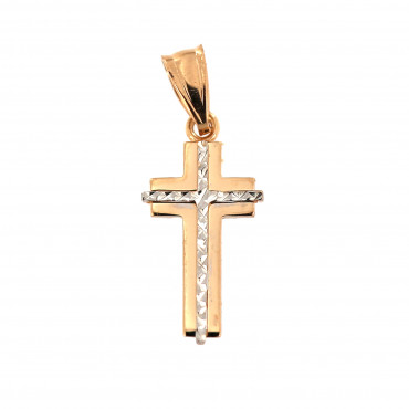 Rose gold cross pendant ARK02-11