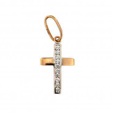 Rose gold cross pendant ARK04-11