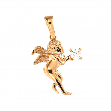 Rose gold angel pendant ARA01-18