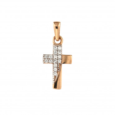 Rose gold cross pendant ARK04-16