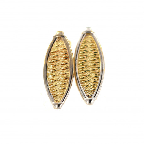 Yellow gold earrings BGA02-04-01