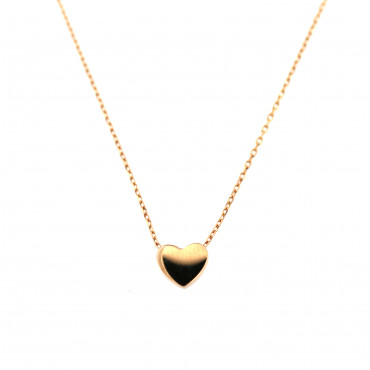 Rose gold pendant necklace CPR10-04