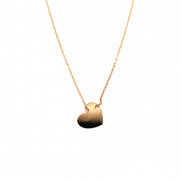 Rose gold pendant necklace CPR10-05