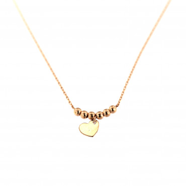 Rose gold pendant necklace CPR10-06