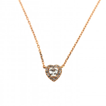 Rose gold pendant necklace CPR10-07