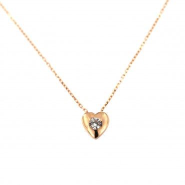 Rose gold pendant necklace CPR10-08