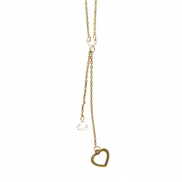 Yellow gold pendant necklace CPG03-03