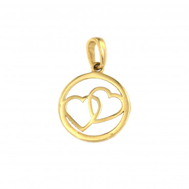 Yellow gold heart pendant AGS01-30