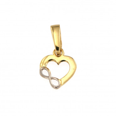 Yellow gold heart pendant AGS01-31