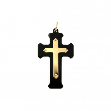 Yellow gold cross pendant AGK05-08