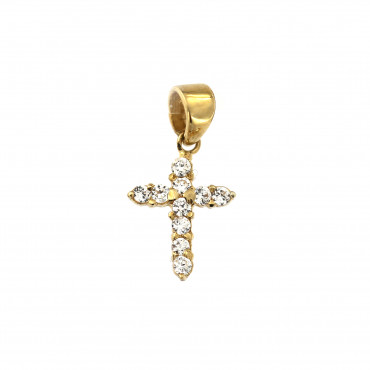 Yellow gold cross pendant AGK06-09